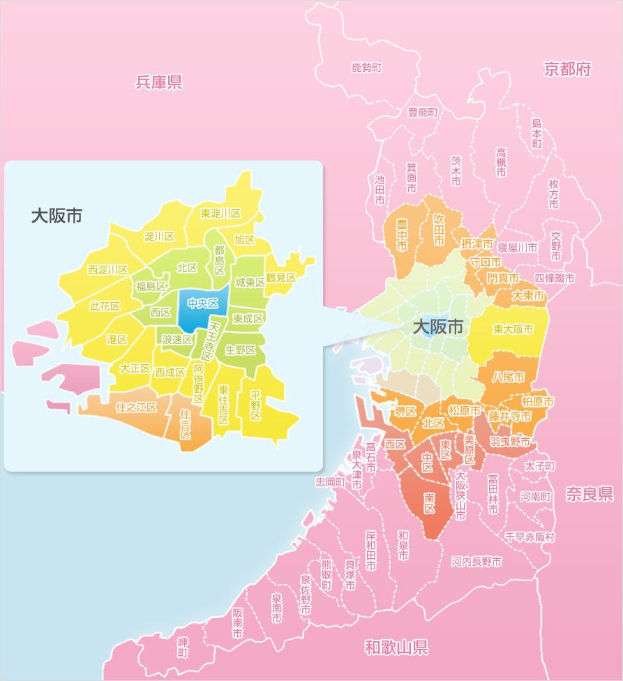 大阪店デリバリーマップ